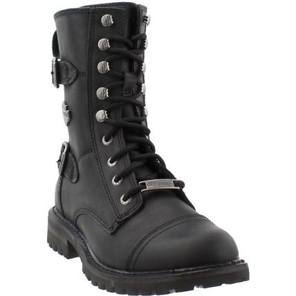 Plain Toe Rubber Sole Lace-up Casual Style Street Style
