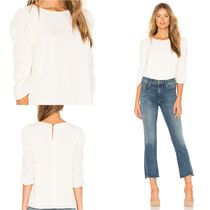 1.STATE Crew Neck Cropped Plain Medium Shirts & Blouses
