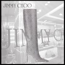 Jimmy Choo Leather High Heel Boots