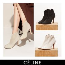 CELINE Round Toe Pin Heels Ankle & Booties Boots