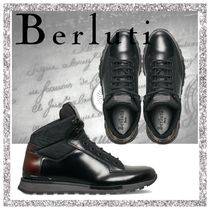Berluti Mountain Boots Plain Leather Sneakers