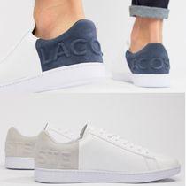 LACOSTE Unisex Street Style Plain Leather Sneakers