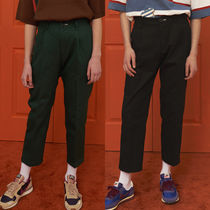 Tapered Pants Unisex Plain Cotton Tapered Pants