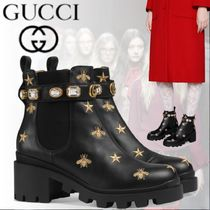 GUCCI Star Rubber Sole Blended Fabrics Street Style