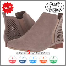 Steve Madden Round Toe Casual Style Plain Ankle & Booties Boots