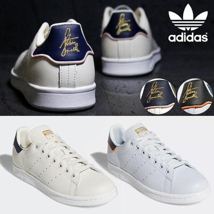 adidas Sneakers Heart Unisex Street Style Plain Leather Oversized Sneakers