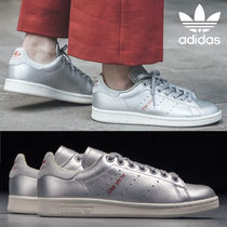 adidas STAN SMITH Heart Unisex Street Style Plain Leather Oversized Sneakers