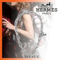 HERMES Chaine dAncre Unisex Chain Silver Necklaces & Pendants