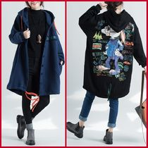 Casual Style Medium Oversized Parkas