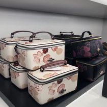 Coach Flower Patterns Leather Pouches & Cosmetic Bags