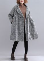 Other Plaid Patterns Casual Style Medium Oversized Peacoats