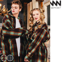 WV PROJECT Tartan Casual Style Unisex Street Style Collaboration