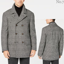 Ralph Lauren Glen Patterns Zigzag Street Style Long Peacoats Coats