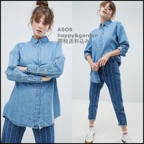 ASOS Casual Style Denim Street Style Long Sleeves Plain