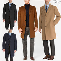 Ralph Lauren Wool Street Style Plain Long Chester Coats