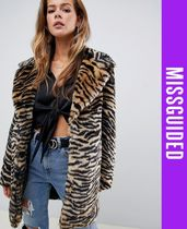 Missguided Faux Fur Other Animal Patterns Cashmere & Fur Coats