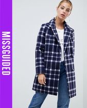 Missguided Other Check Patterns Casual Style Coats