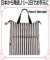 Henri Bendel Stripes Casual Style Nylon Bag in Bag Backpacks