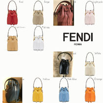 FENDI MON TRESOR Casual Style Plain Leather Handbags