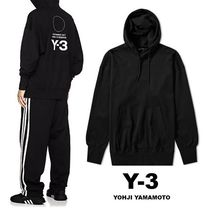 Y-3 Pullovers Unisex Street Style Long Sleeves Plain Cotton