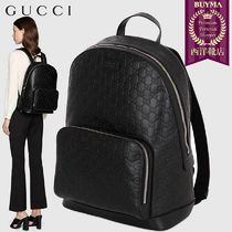 GUCCI Gucci Signature Leather Backpacks