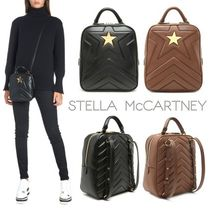 Stella McCartney Star Casual Style Faux Fur 2WAY Backpacks