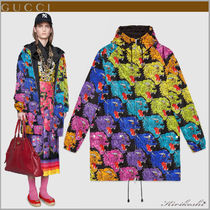 GUCCI Casual Style Street Style Other Animal Patterns Long Parkas