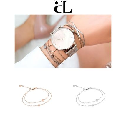 Casual Style Unisex Chain 18K Gold Fine
