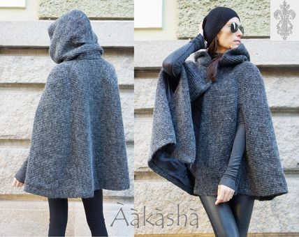 Cashmere Plain Medium Handmade Coats