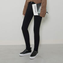 Casual Style Street Style Plain Cotton Long Skinny Pants