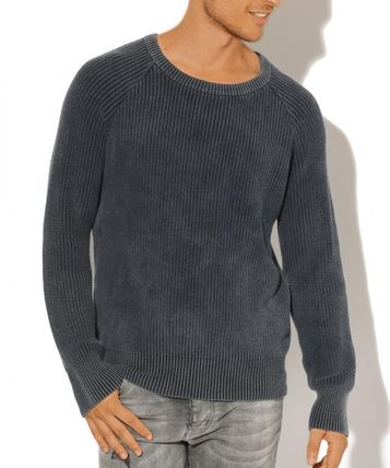 Crew Neck Wool Street Style Long Sleeves Knits & Sweaters