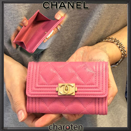 bd0d97c51ab5 CHANEL BOY CHANEL 2019 Cruise Calfskin Plain Card Holders by charoten -  BUYMA