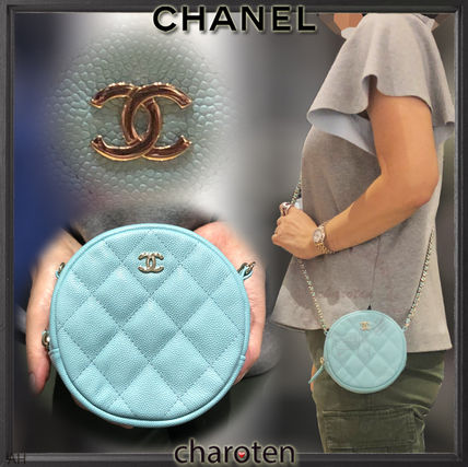 CHANEL Shoulder Bags Calfskin 2WAY Chain Plain Elegant Style Shoulder Bags