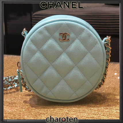 CHANEL Shoulder Bags Calfskin 2WAY Chain Plain Elegant Style Shoulder Bags 2