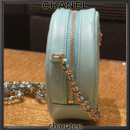 CHANEL Shoulder Bags Calfskin 2WAY Chain Plain Elegant Style Shoulder Bags 3