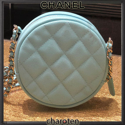 CHANEL Shoulder Bags Calfskin 2WAY Chain Plain Elegant Style Shoulder Bags 5
