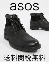 ASOS Straight Tip Mountain Boots Faux Fur Plain Boots