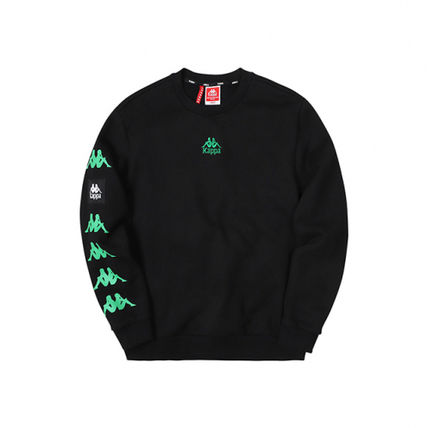 Kappa Sweatshirts Unisex Street Style Logos on the Sleeves Sweatshirts 2