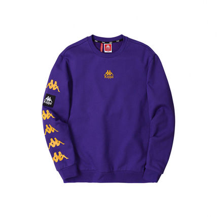 Kappa Sweatshirts Unisex Street Style Logos on the Sleeves Sweatshirts 4