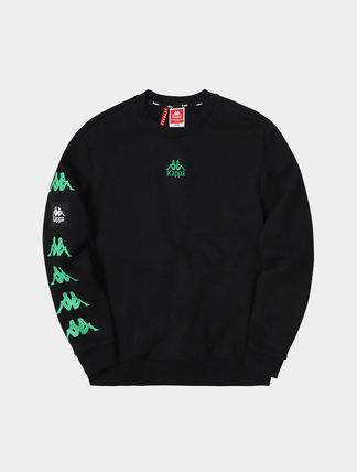 Kappa Sweatshirts Unisex Street Style Logos on the Sleeves Sweatshirts 5