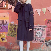 rolarola Casual Style Unisex Wool Plain Long Oversized Duffle Coats