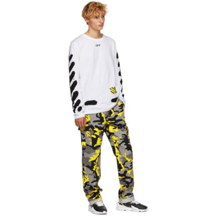Off-White Long Sleeve Stripes Street Style Long Sleeves Cotton 6