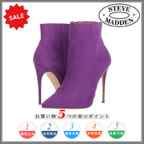 Steve Madden Plain Pin Heels Elegant Style Ankle & Booties Boots