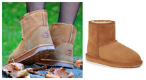 EMU Australia Round Toe Rubber Sole Sheepskin Plain Ankle & Booties Boots
