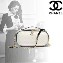 CHANEL Calfskin Shoulder Bags