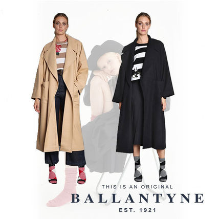 Wool Street Style Plain Long Oversized Coats