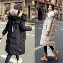 Fur Plain Long Oversized Parkas