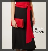 Hobbs London Suede 2WAY Chain Plain Party Style Home Party Ideas Clutches