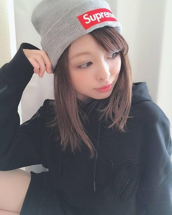 ... Supreme Knit Hats Unisex Street Style Collaboration Knit Hats ... 1db4e05a7ac