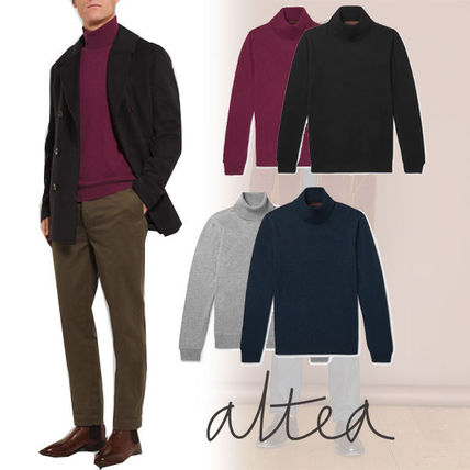Pullovers Cashmere Long Sleeves Plain Knits & Sweaters